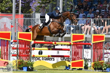 WA rider, Emily Gray and 'Jocular Vision; by Jubilee Bay won the Eurella Jubilee Trophy for Closest to Optimum Time on The Four Star Cross Country course. They took fourth place overall in the Mitsubishi CCI Four Star.