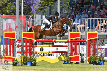 The Mitsubishi CCI Four Star top spot was a bit of a Trans Tasman struggle, but New Zealand rider, Amanda Pottinger competing in her first Four Star event had to settle for second place riding her former racehorse, 'Just Kidding' by Fusiachi Pegasus.