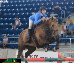 Gold Coast Hinterland resident, Chailyn MacFarlane, competed her 10 year old Irish Sport cross Quarter Horse Lethal Ed in the 1m on Saturday