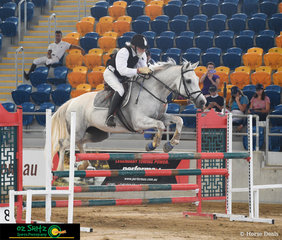 Even at 75 years old Tom Doyle is still riding great pictured here on his 16 year old mare Chironic Elegance in the 1m class on Saturday morning