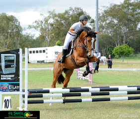 Upper Caboolture Local Natasha Nilsson had her young 4 year old gelding Castile out in the 60cm round on Saturday