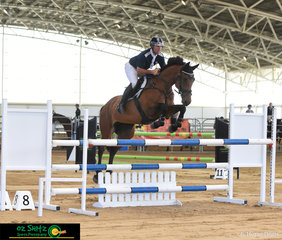 Recent Jump Off TV Star Peter McMahon had a ride of Iris Amann's 10 year old Mare in the 1.10m on the Saturday at the Queensland State Equestrian Centre