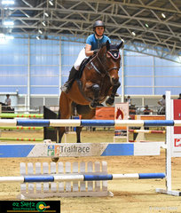 All the way from Rockhampton and on her way down to Sydney, Karlee McKay stopped by the Queensland State Equestrian Centre to compete on the very talented gelding Centenda