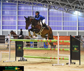 Competing in their first 1.35m Grand Prix was Kilcoy rider, Madison Searle and Miss Florentine at the Queensland Indoor State Championships held at QSEC.