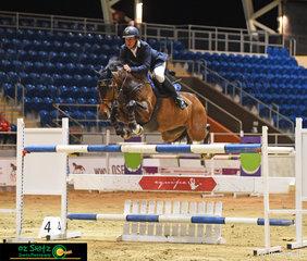 Winner of the 1.35m Queensland Indoor Championship class was Matt Kidston and the cracking little horse, Finch Farm Cracker
