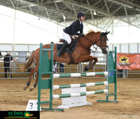 In a very tough field of 63 competitors for the 1.00m on Sunday morning, Rebekah Towler and Miss Allykat finished in 5th place