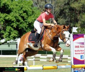 Kayla Johnston rode I'm A Cowboy to a very speedy jump off time of 41.63s in the 80cm on Saturday