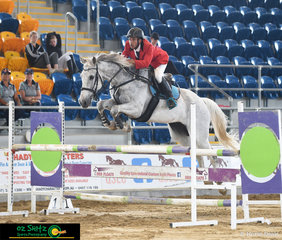 Having a super start to the event with a respectable 4th placing in the 1.10m on Saturday was Marcelo Castro and Ethereal Dream Catcher
