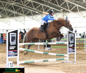 Kaiyana Fullrton and Lethal Ed soar over the last jump in the 1.10m on Sunday