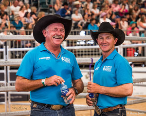 Ken Faulkner and Bruce ODell at the 'water cooler' during the final session in the IRT The Way Of The Horse
