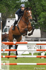 Successful young rider, Jasmine Dennison jumped a four penalty round in the Australian Quality Pet Foods Future Stars class riding her, 'Mabobri De Mabribo'.