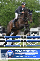 James  Harvey is pictured aboard Des Russell's, 'Castlederg' during the Australian Quality Pet Foods Future Stars class.