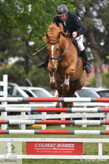 David Boulton is one of the driving forces of showjumping in Gippsland and he is pictured aboard his talented, 'Silverlyn Archie' that posted a four penalty round in  the Australian Quality Pet Foods Future Stars class.