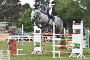 New Zealand international representative, now resident in NSW, Katie Laurie posted the fastest jump off time riding her impressive, 'Mccaw MVNZ' but the last fence down in the jump off saw them finish the  Australian Quality Pet Foods Future Stars class in sixth place.
