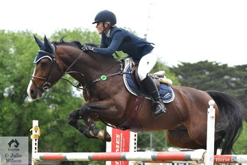 A long way from the show ponies, the ever improving, Brooke Langbecker rode the talented stallion, 'Beijing' to take fourth place in the Wellington Livestock Mini Prix.