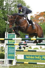 Nelson Smyth from North Queensland jumped a good eight penalty first round in the GBG Concrete and Construction Sale World Cup Qualifier riding his former Thoroughbred racehorse, 'Lauren Glen Lucky Time'. Sale was only the second World Cup Qualifier for the talented pair.