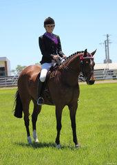 Charlee Anthony and Tremayne Royal Opera Champion Lady rider and champion ridden ANSA