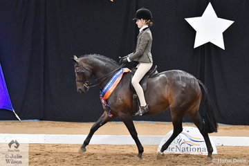 Kate Kyros did her best to get the 2018 Australasian Show Horse and Rider Championships off to a great start for South Australia. Kate rode her,  'Kolbeach Holly's Diamond' to claim the Child's Large Show Hunter Pony Runner Up award.