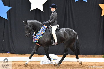 Riding for Queensland, Mikayla Vankampen made it back to back Child's Small Show Hunter Hack Championships riding Abbey Lovell's delightful 2017 National Champion Small Show Hunter Hack, 'Dicavalli Rory'.