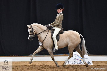 Talented young NSW rider, Elizabeth Taylor was making the most of the Child's classes on day one of the 2018 Australasian Show Horse and Rider Championships. Elizabeth is pictured aboard her, 'Kenda Park Strauss' that was declared Champion Child's Small Show Hunter Pony.