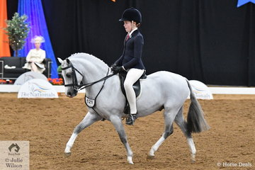 Representing NSW, Ella Fin rode her charming, 'Eagle Park Ceaser' to take out the Child's Small Show Hunter Pony Runner Up award.