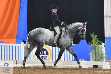 Kaitlin Labahn-Meyland rode her beautiful, 'Rolex II' to claim the Child's Large Hack Championship for Victoria.
