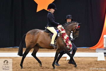 With Piper Thompson doing the riding, Karen Show led her well performed, 'Xanadu of Sefton' to take out the 2018 Leading Rein Pony National title for Queensland.