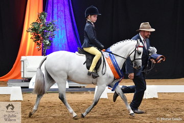 Ty Manning was on the end of the lead and Harrison Manning rode Sarah Barker's , 'Rivington Posy' to take out the Leading Rein Pony Runner Up award for South Australia.