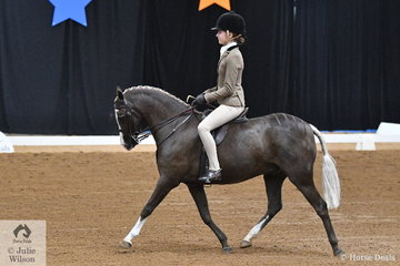 South Australian, Kate Kyros claimed an impressive double with her, 'Owendale Beesting'. 2018 National Child's Medium Show Hunter Pony yesterday and today they claimed the Open Medium Show Hunter Pony Championship.