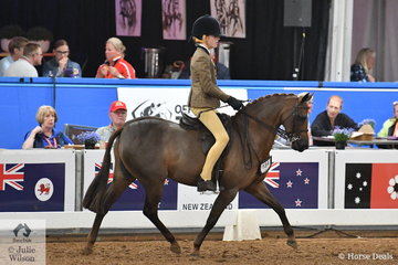 Representing Western Australia, Charlee Kennedy rode her, 'Silkwood Top Notch' to take third place in the 2018 National Medium Show Hunter Pony Championship.