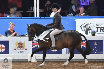 Successful young Victorian rider, Daizi Plumb rode Genevieve Rounds' charming, 'Dalgangle Piccadilly' to take third place in the Small Show Hunter Pony Championship.