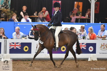 All the way from Western Australia, Codie Lambert rode Orleans Graetz's SA bred, 'Argyl Star Quality' to take the National Medium Pony Runner Up award.