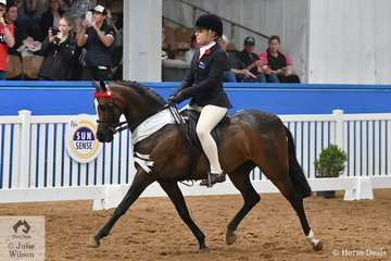 Indianna Shepheard rode her well performed, 'Emyella Touch of Heaven' to take third place in the 2018 National Medium Pony Championship.