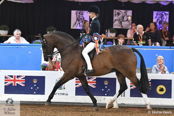 Representing NSW, Grace Tyson was declared 2018 National Champion Intermediate Rider 12-14 Years.