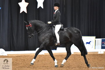 Mikayla Vankampen representing Queensland rode the lovely , 'Divcavalli Rory' to take third place in the Rider 15-17 Years Championship.