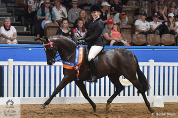 Georgia Fairweather representing Queensland rode her well performed, 'Gordon Park Supanova' to take out the 2018 Small Galloway Runner Up award.