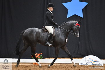 Representing Queensland, Kirsty Harper-Purcell rode her, 'Worldly' to take third place in the National Small Hack Championship.