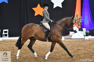 Millie Hooper from South Australia claimed third place in the 2018 National Small Show Hunter Hack Championship with her, 'SLM Mastermind'.