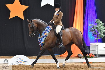 Victoria Gorst representing Victoria rode Susan Gorst's, 'Grets' to take out the 2018 National Small Show Hunter Hack Championship.