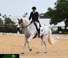 Despite the change of weather at the start of Stuart Tinney's CCI Three Star dressage test, War Hawk didn't put a hoof wrong and took them to the top of the leaderboard after the dressage phase atWallaby Hill Three Day Event.