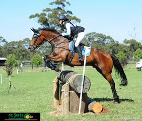 Making easy work of the EvA95 cross country course designed by Stuart Tinney was Mietta Innes-irons and Lowenherz at the Wallaby Hill International Three Day Event.