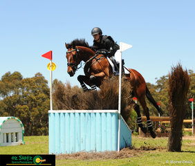 One Star Junior rider, Charlotte Flood and Collude With Me clear the apex with ease at the Wallaby Hill Three Day Event.