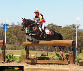 Cruising through the CCI Two Star water complex was Delwyn Ogilvy and 12 year old Warmblood Mare, Precious Dreams at the Wallaby Hill Three Day Event.