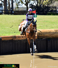 Shenae Lowings and her eight year old Thoroughbred, Bold Venture, take the leap into the One Star with great control at the International Three Day Event held at Wallaby Hill Farm.