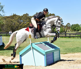 Luke Harmer competes in the CCI One Star with his seven year old gelding, Belcam Le Canada at the Wallaby Hill International Three Day Event.
