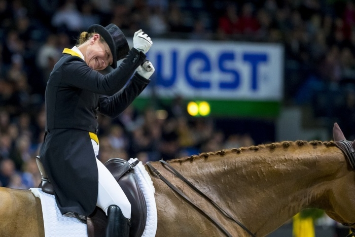 Isabell Werth (GER) and Weihegold Old are back to number one in the FEI Dressage World Rankings, and also still holds third place with mount Bella Rose 2, here in Stuttgart (GER) at the FEI Dressage World Cup™ 2018/2019 Western European League earlier this month where she breezed in to win her second victory of the season. (FEI/ Leanjo de Koster)
