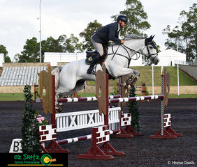 Jumping clear with a time of 66.16 was Stuart Jenkins and Blackall Park Penny Lane in the first class of the day the 1.20m A2 round at the Summer Show Jumping Classic.