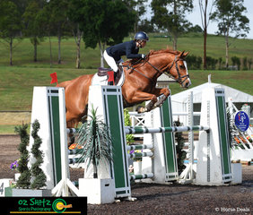 It was all about eventing last weekend now it is all about the show jumping for Annabel Armstrong and Pumpernickel they compete in the 1.20m A2 round at the Summer Show Jumping Classic.
