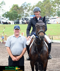 Jumping a quick and clear round of 55.17 seconds, Andrew Inglis and Kalysta win the Open 1.20m class sponsored by Antares Australia.