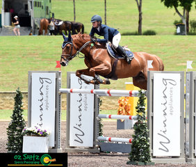 First out in the Open 1.40 Jump Off round on the second day of the Summer Show Jumping Classic was Brooke Langbecker and Quintago 1.